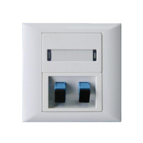 Fiber Faceplate & Wall Outlet