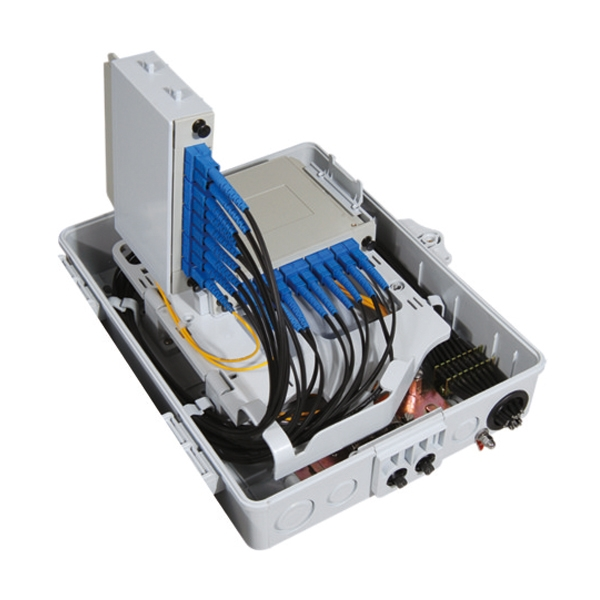 Optical Splitter Box with 2pcs of 1x8 optical splitters
